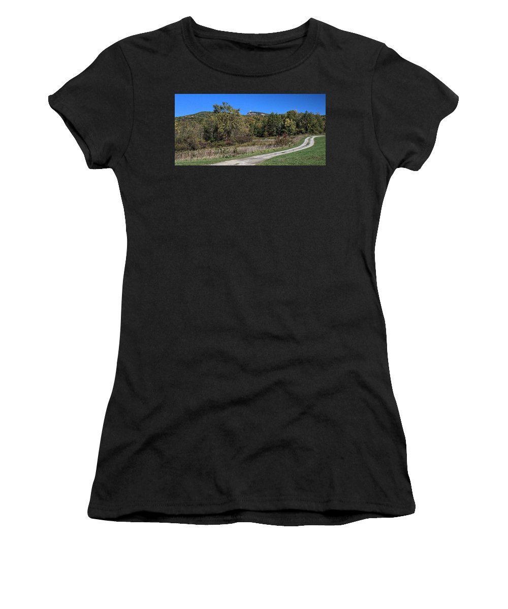 Shawangunks Women's T-Shirt (Athletic Fit) featuring the photograph Farm Lane by Robert McCulloch