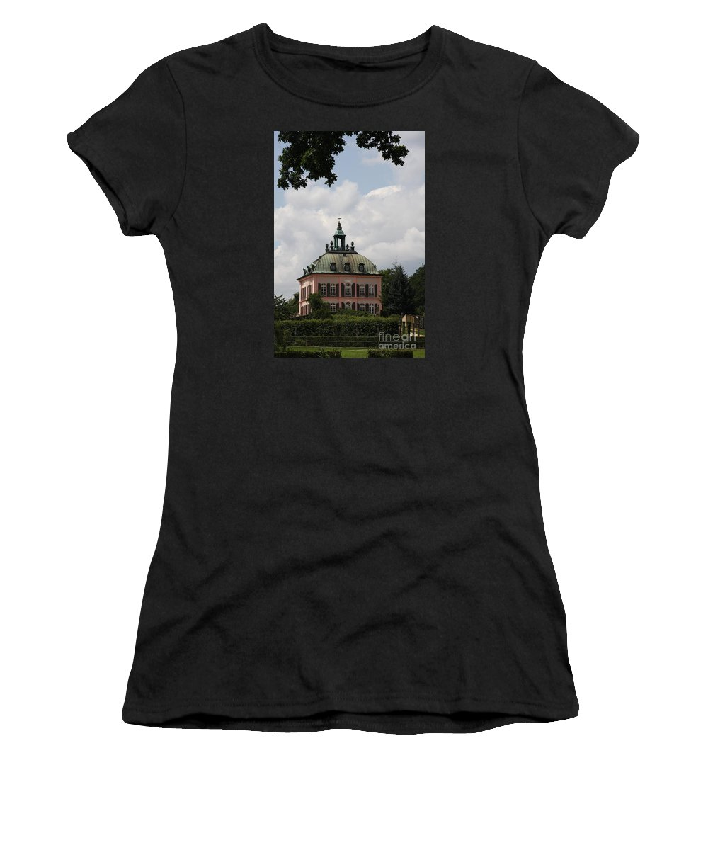 Palace Women's T-Shirt (Athletic Fit) featuring the photograph Fasanen Schloesschen Germany  Pheasant Palace by Christiane Schulze Art And Photography