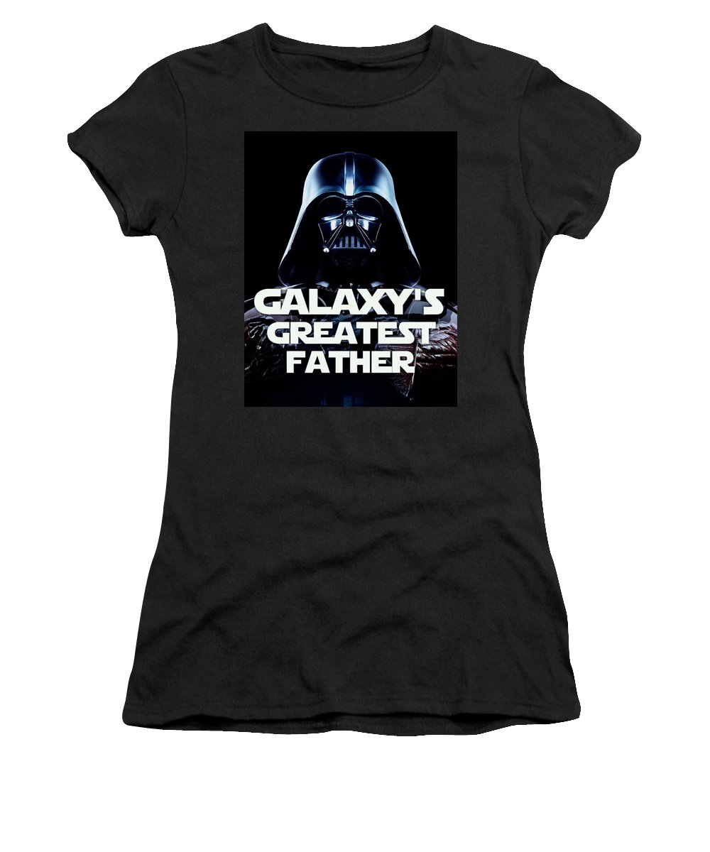 Star Wars Women's T-Shirt featuring the painting Father Of The Year by Paul Van Scott