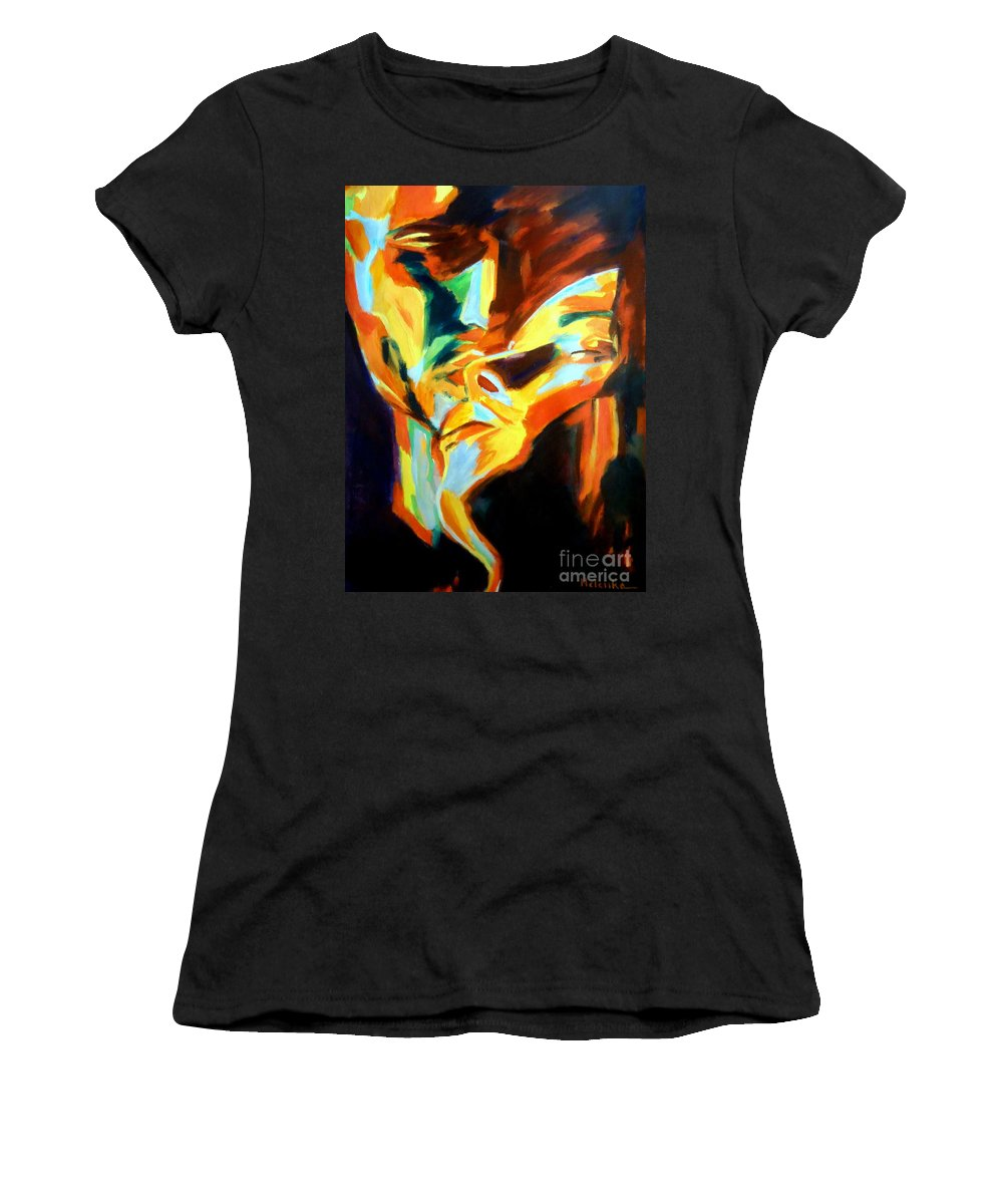 Contemporary Art Women's T-Shirt featuring the painting Feast Of Love by Helena Wierzbicki