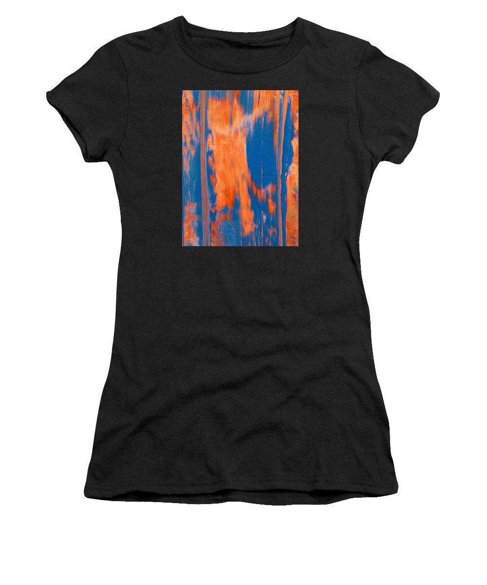 Original Women's T-Shirt featuring the painting Features by Artist Ai