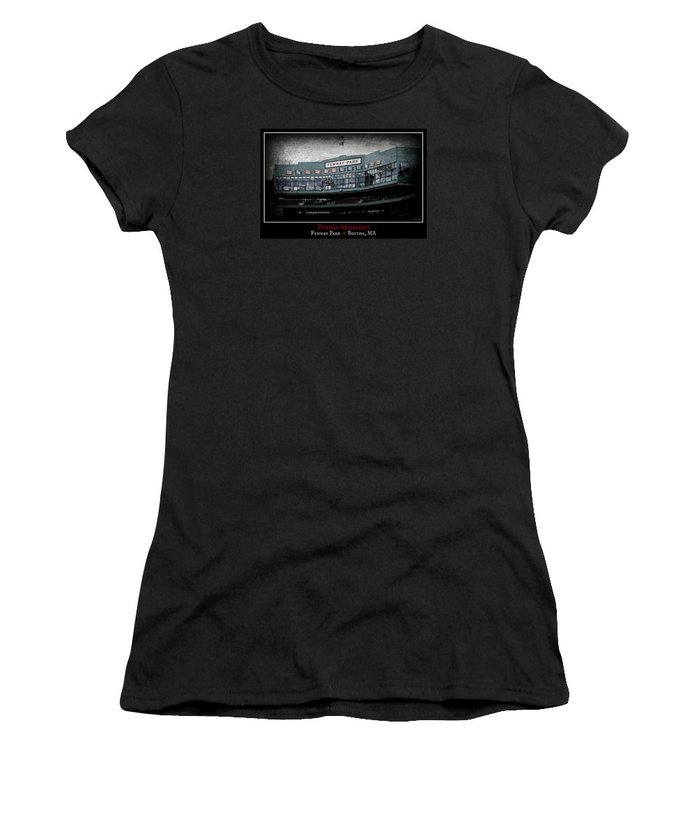 Fenway Park Women's T-Shirt (Athletic Fit) featuring the photograph Fenway Memories - Poster 1 by Stephen Stookey