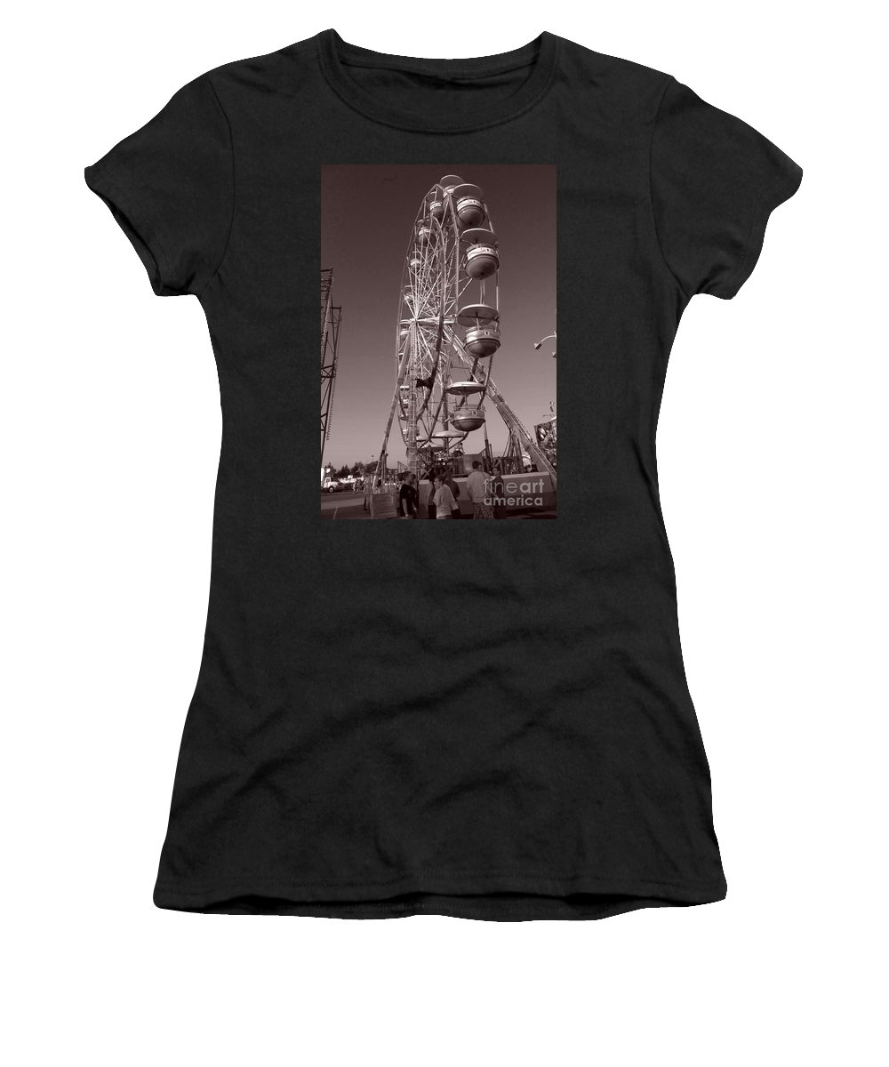 Carnival Women's T-Shirt featuring the photograph Ferris Wheel 1 by September Stone