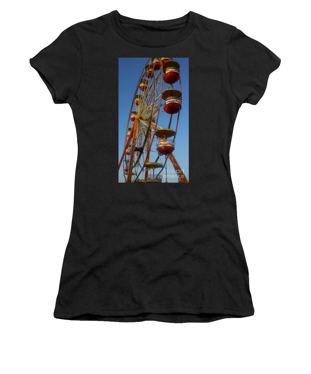 Carnival Women's T-Shirt featuring the photograph Ferris Wheel 2 by September Stone