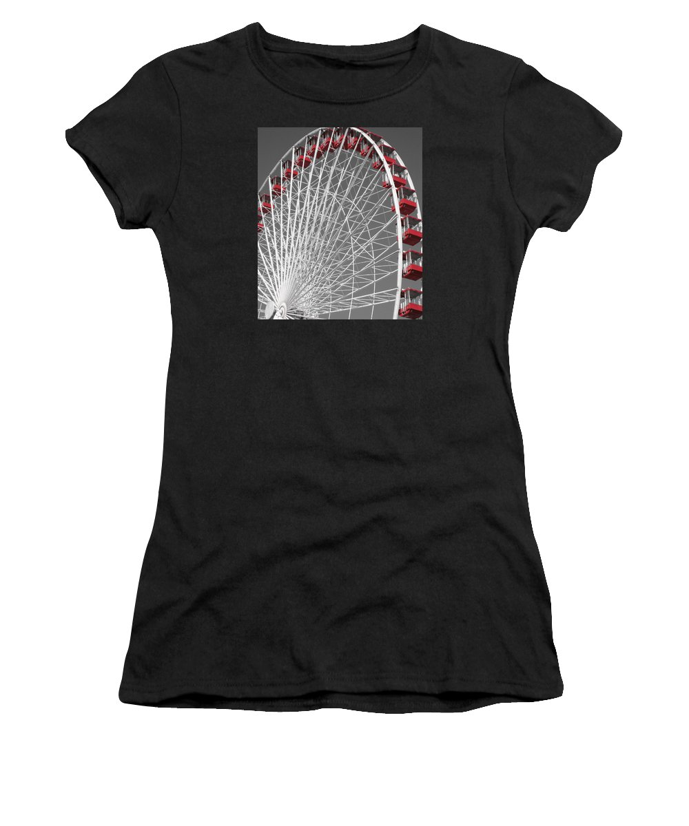 Ferris Wheel Women's T-Shirt featuring the photograph Ferris Wheel by Mary Cloninger
