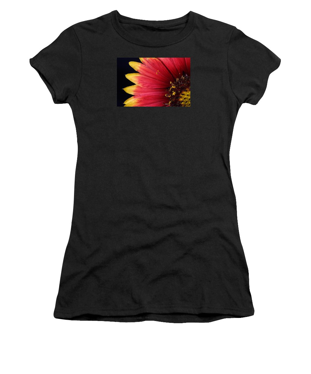 Fire Spokes Women's T-Shirt (Athletic Fit) featuring the photograph Fire Spokes by Paul Rebmann