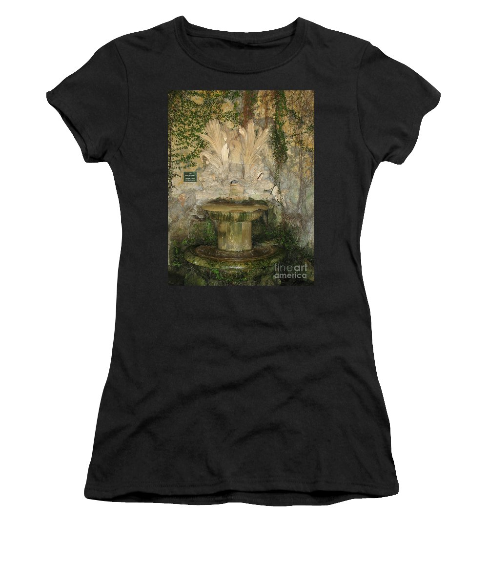 Fountain Women's T-Shirt (Athletic Fit) featuring the photograph Fish Fountain by Christiane Schulze Art And Photography