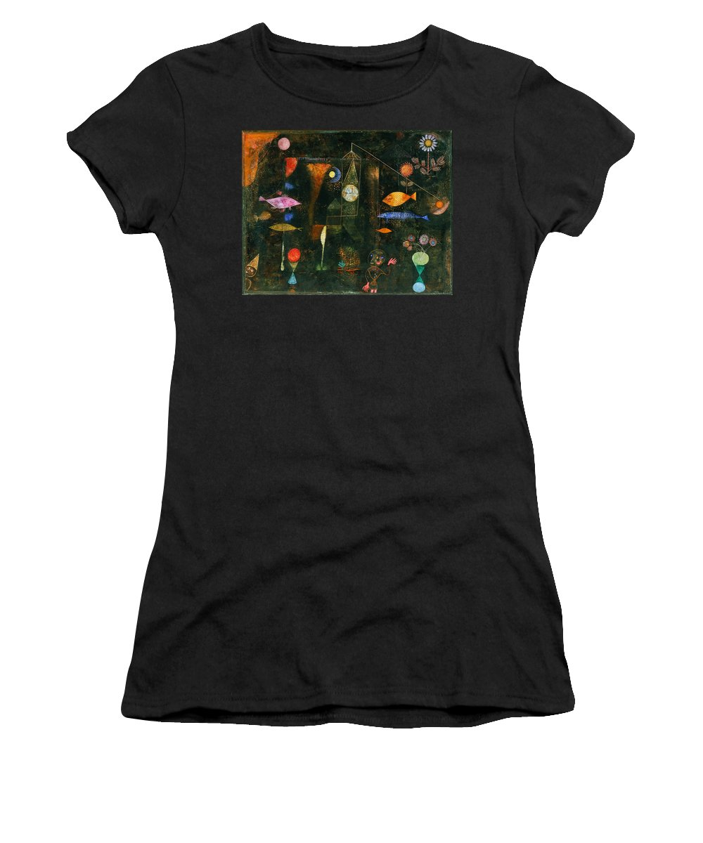 Paul Klee Women's T-Shirt featuring the painting Fish Magic by Paul Klee