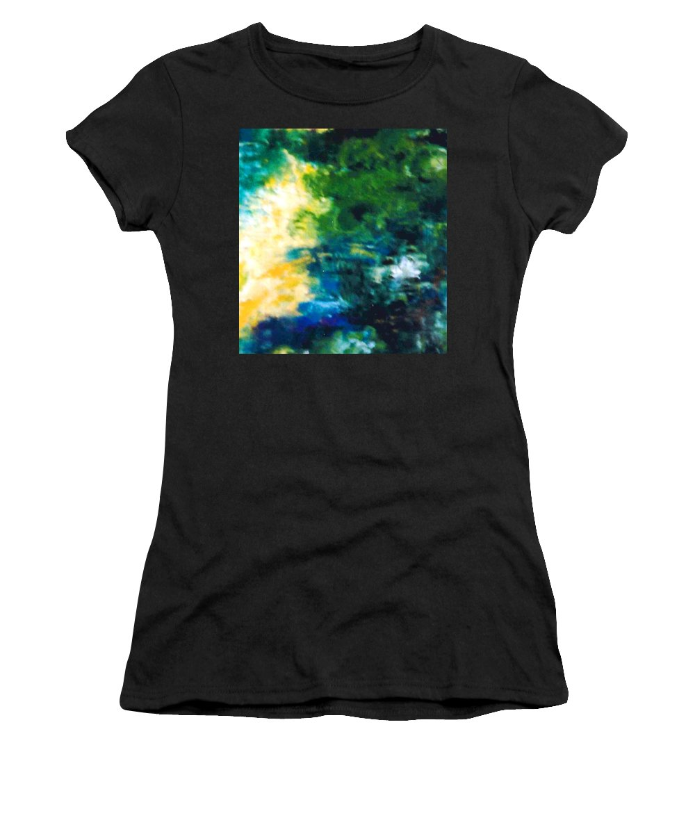 Lyle Women's T-Shirt (Athletic Fit) featuring the painting Fish Pond by Lord Frederick Lyle Morris