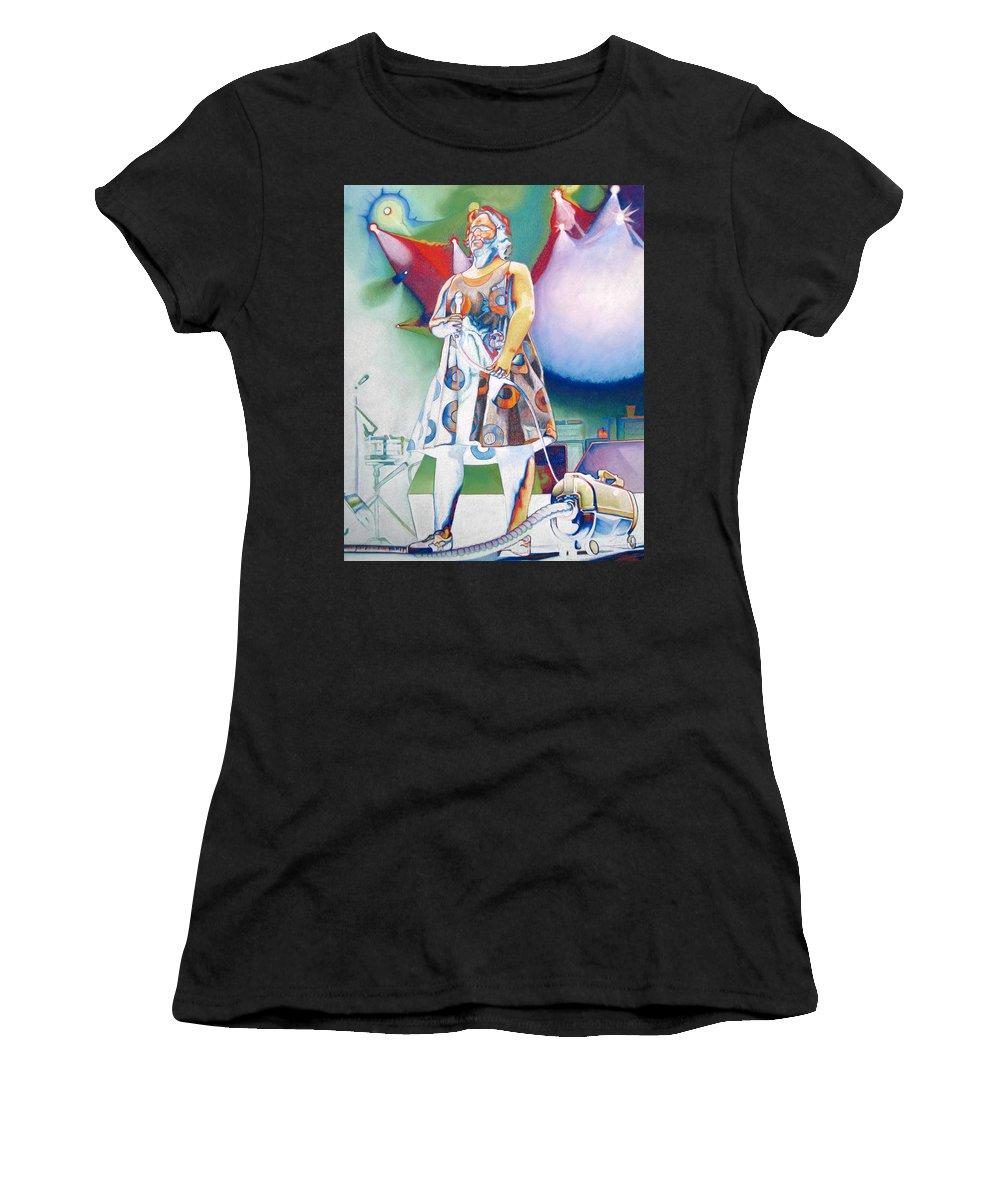 Phish Women's T-Shirt featuring the drawing John Fishman And Vacuum by Joshua Morton