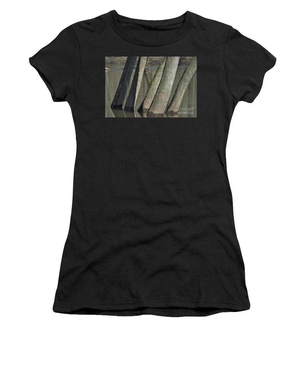 Red Cedar River Women's T-Shirt (Athletic Fit) featuring the photograph Five Brothers by Joseph Yarbrough