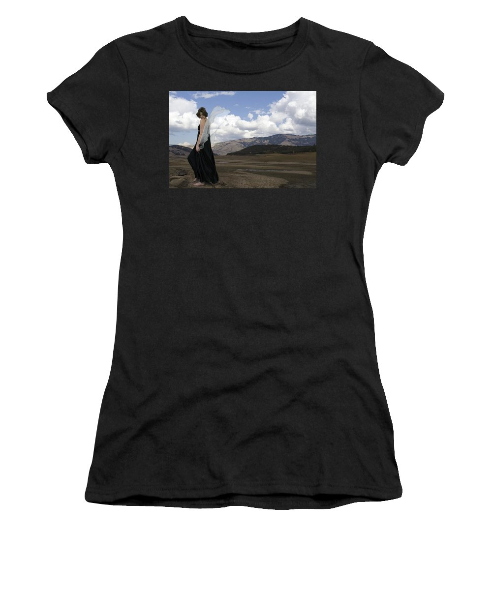 Calley Duvall Women's T-Shirt (Athletic Fit) featuring the photograph Flirty Fairy by Teri Schuster