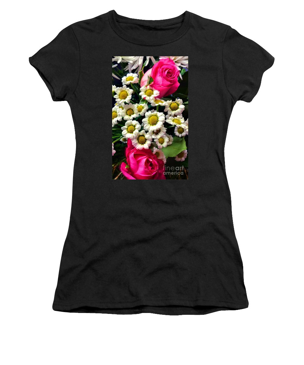 Floral Women's T-Shirt featuring the photograph Floral Decoration by Lisa Byrne