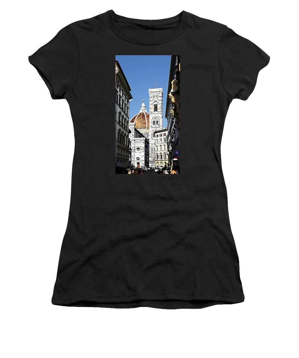 Florence Women's T-Shirt featuring the photograph Florence Italy Santa Maria Fiori Duomo by Irina Sztukowski