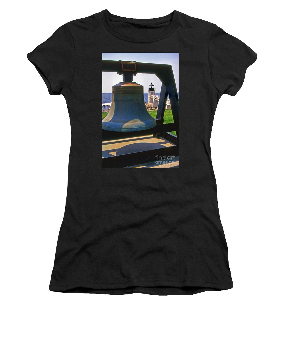 Lighthouses Women's T-Shirt featuring the photograph Fog Bell by Skip Willits