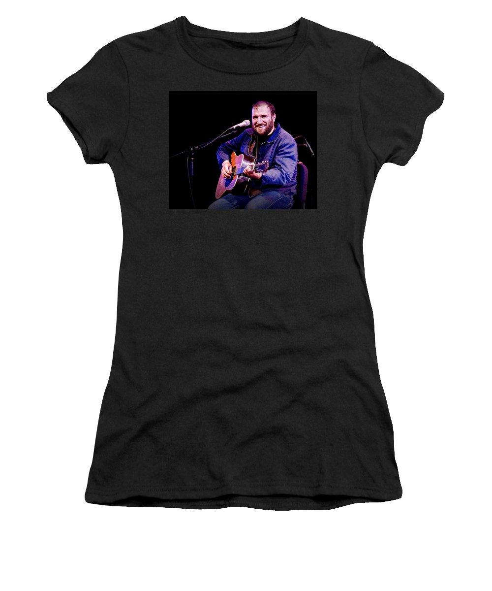 Art Women's T-Shirt featuring the photograph Folk Musician David Bazan In Concert by Randall Nyhof