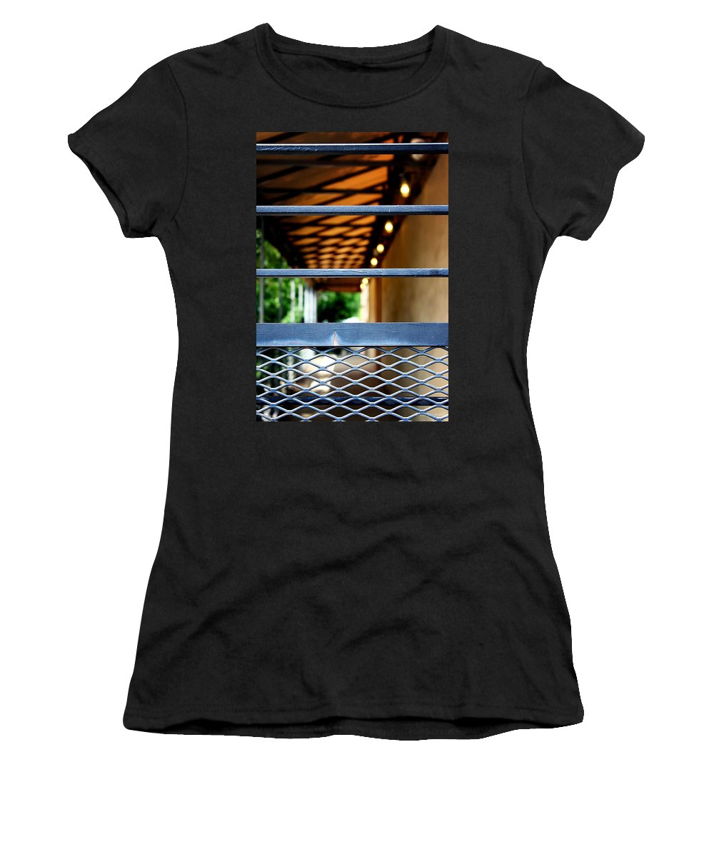 Fence Women's T-Shirt featuring the photograph Forbidden by Greg Simmons