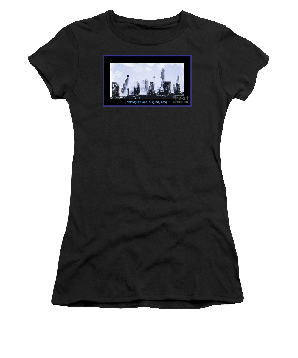 Surrealist Art Women's T-Shirt featuring the painting Forecast by John Malone
