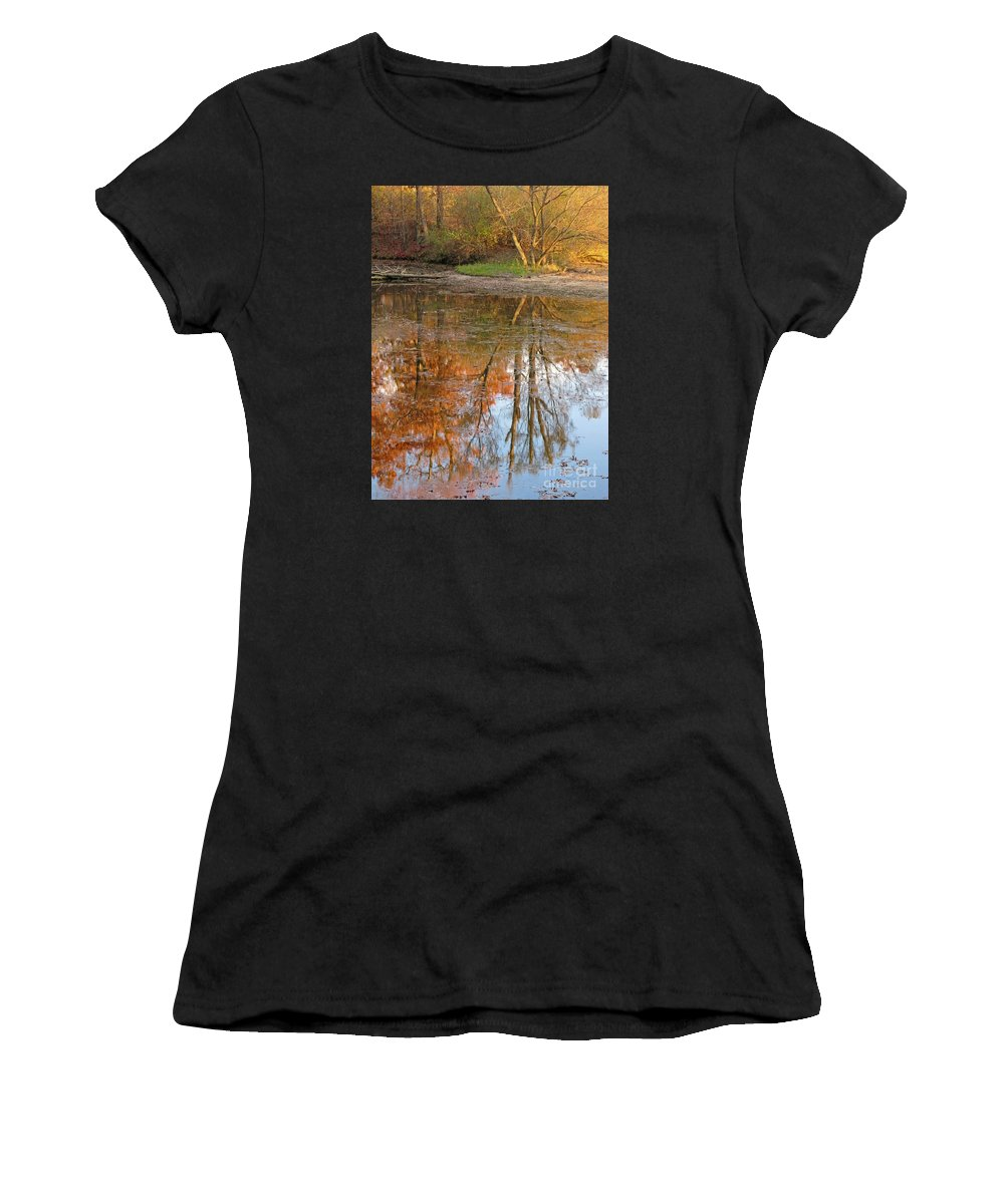 Autumn Women's T-Shirt (Athletic Fit) featuring the photograph Forest Glow by Ann Horn