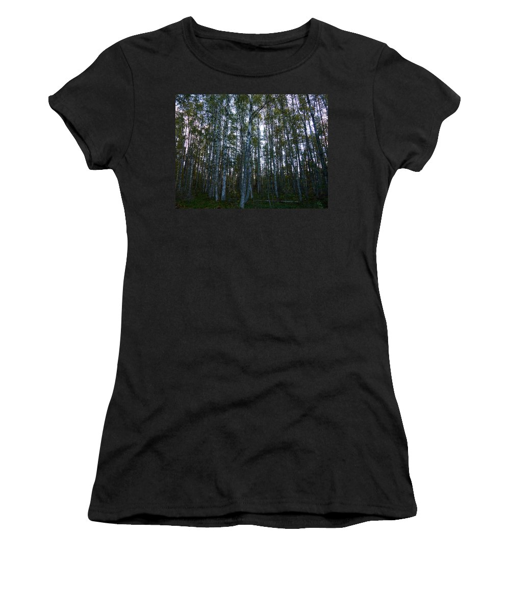 Finland Women's T-Shirt featuring the photograph Forest by Kukka Lehto