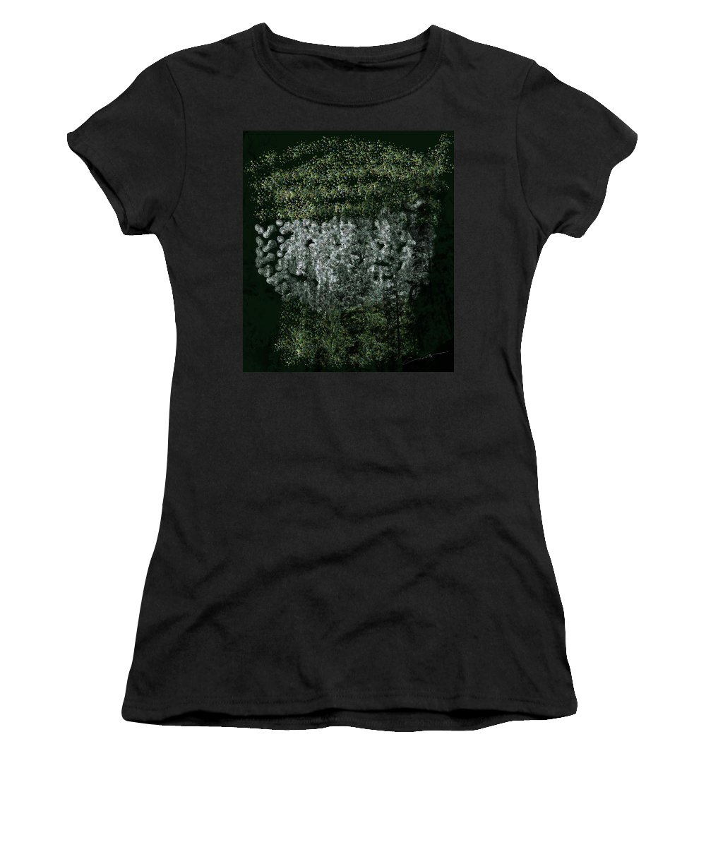 Forest Women's T-Shirt featuring the digital art Forest On The Mountainside by Michael Hurwitz