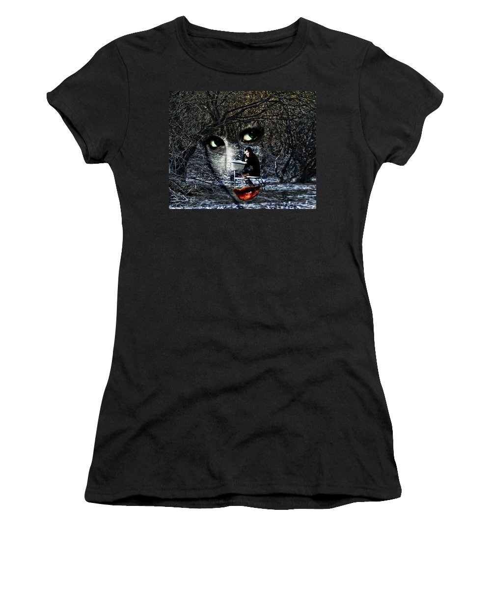 Forgotten Place Women's T-Shirt (Athletic Fit) featuring the digital art Forgotten Place by Diane Dugas
