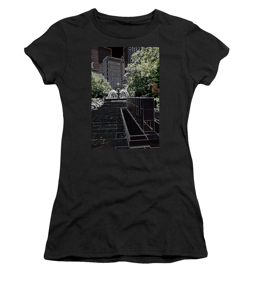 Fountain Women's T-Shirt featuring the photograph Fountain Abstract by Christiane Schulze Art And Photography