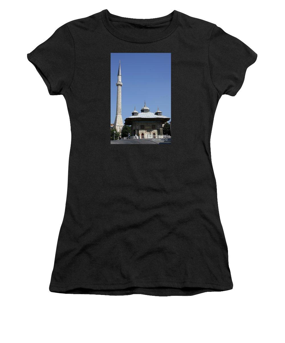 Fountain Of Ahmet Iii Women's T-Shirt featuring the photograph Fountain Of Ahmet IIi - Istanbul by Christiane Schulze Art And Photography