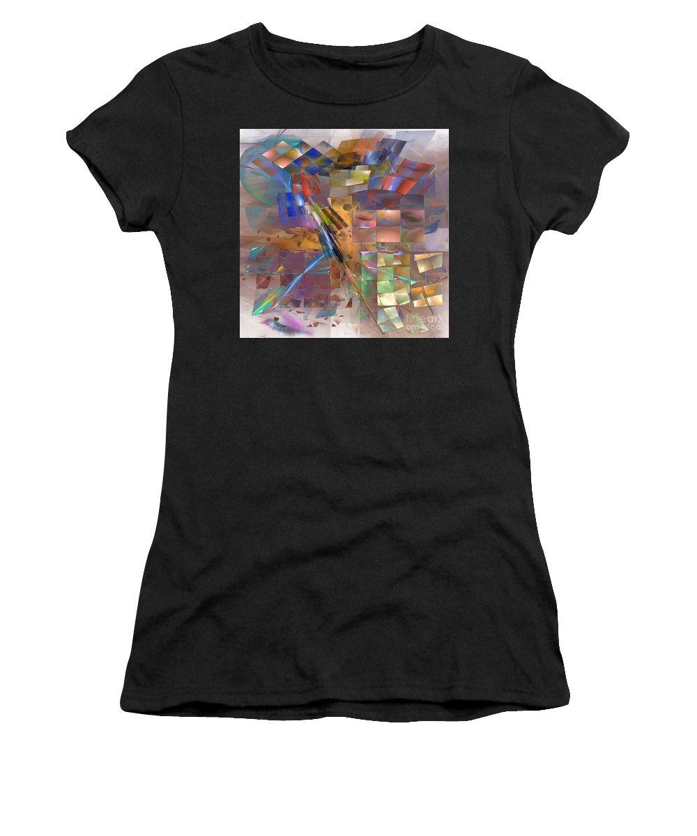Eyes Women's T-Shirt featuring the digital art Four Eyes - Square Version by John Beck