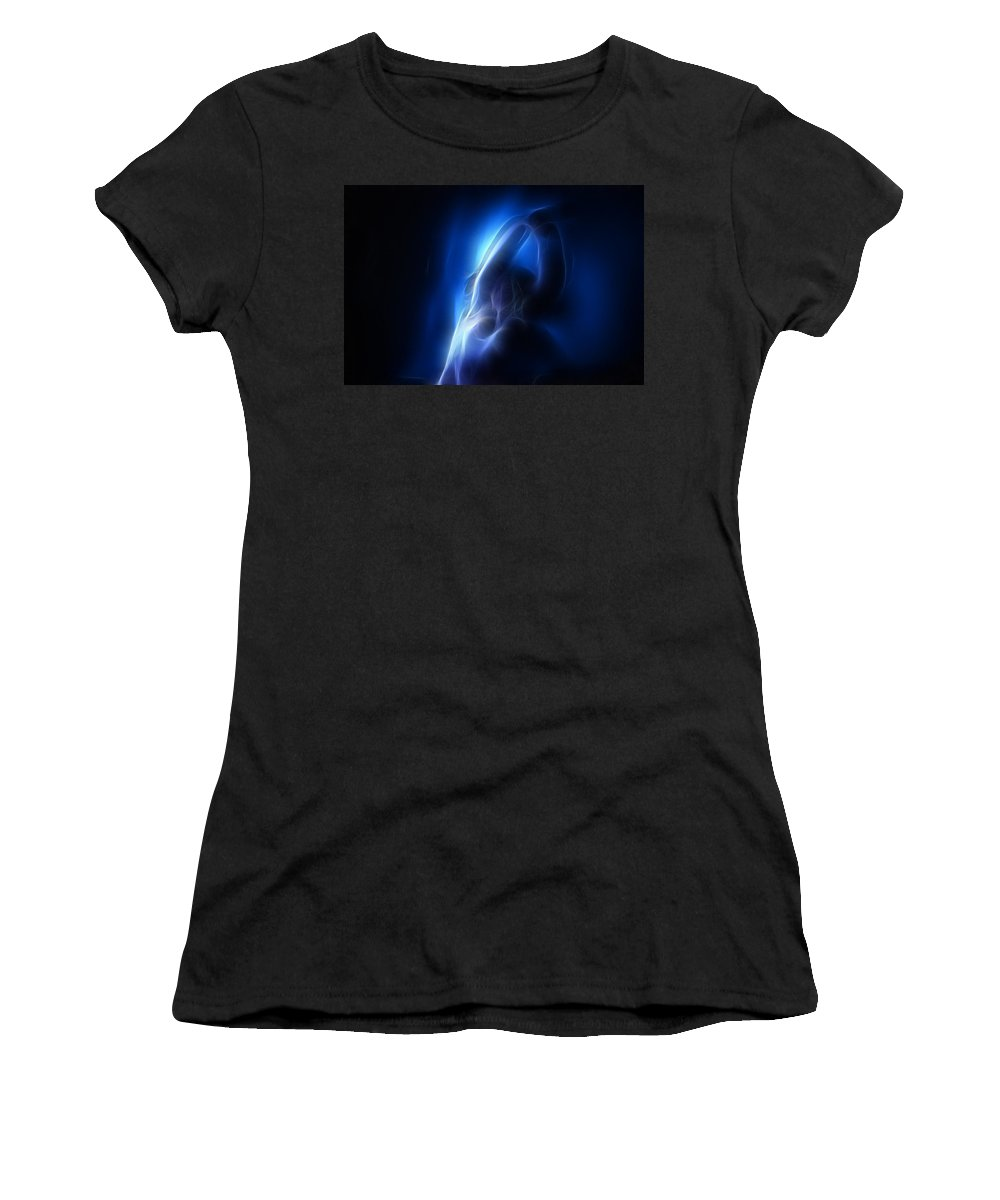 Nude Women's T-Shirt (Athletic Fit) featuring the photograph Fractal Nude 4030 by Timothy Bischoff
