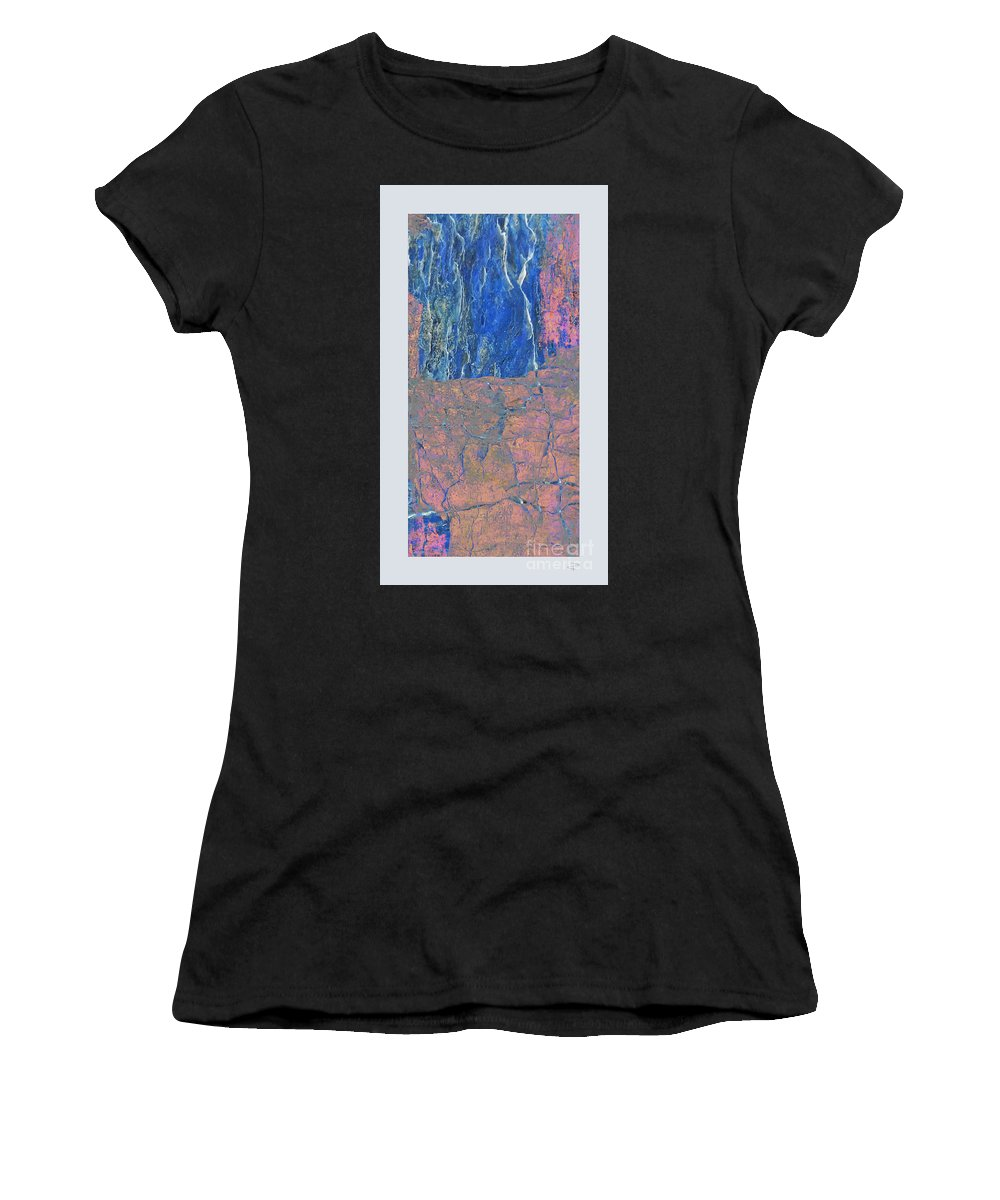 Fracture Women's T-Shirt (Athletic Fit) featuring the photograph Fracture Section Xxlll by Paul Davenport