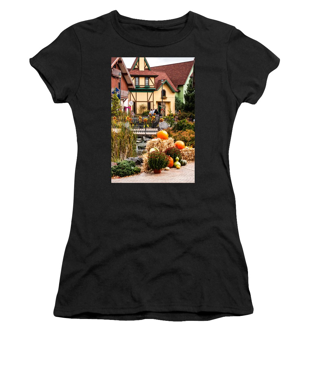 Frankenmuth Women's T-Shirt (Athletic Fit) featuring the photograph Frankenmuth Fall by Sheri Bartoszek