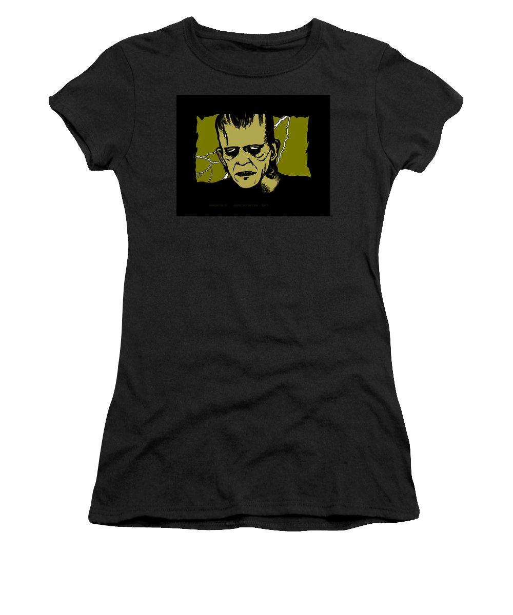 Frankenstein Women's T-Shirt featuring the digital art Frankenstein 31' by Christopher Korte