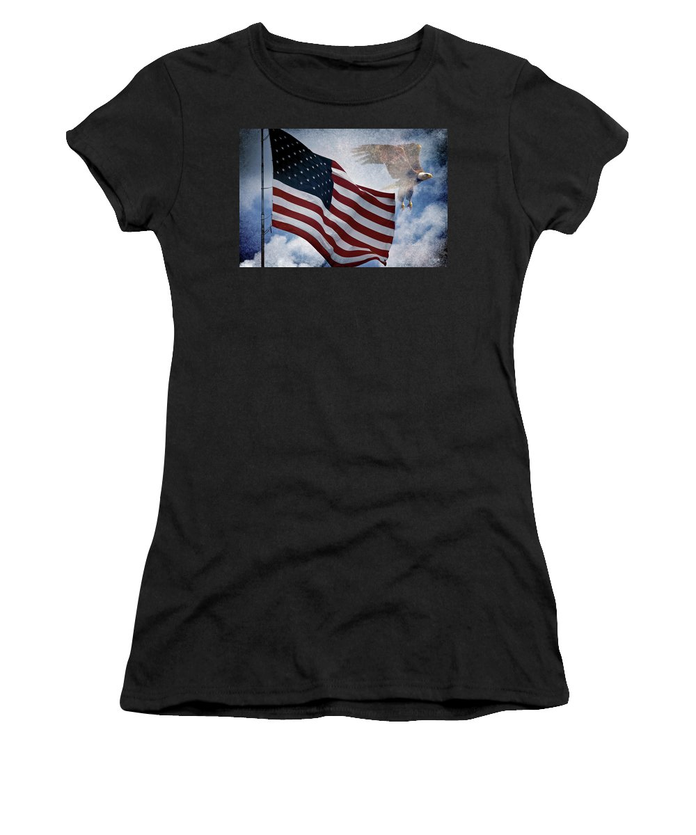 Eagle Women's T-Shirt featuring the photograph Freedom by Scott Pellegrin