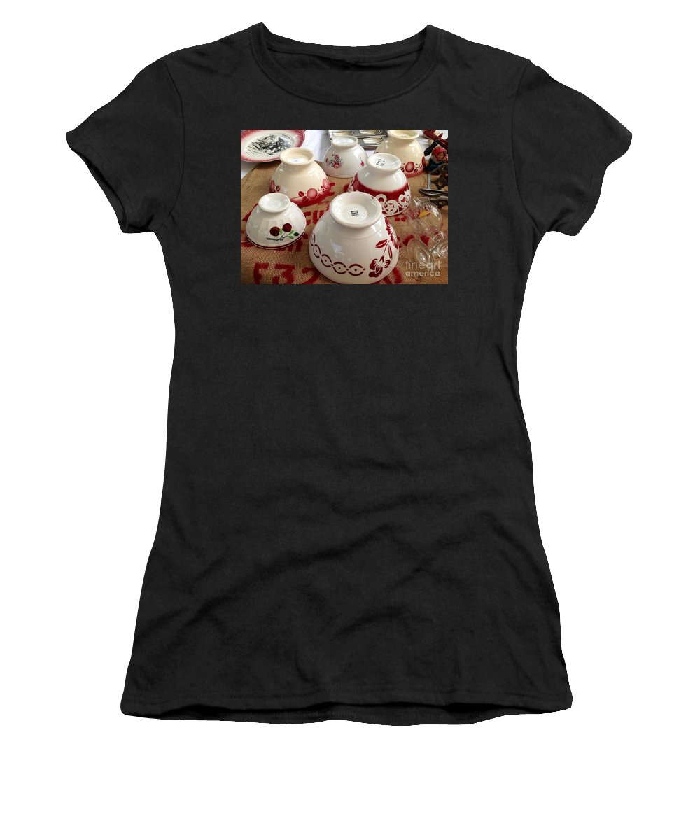 France Women's T-Shirt featuring the photograph French Cafe Bowls by France Art