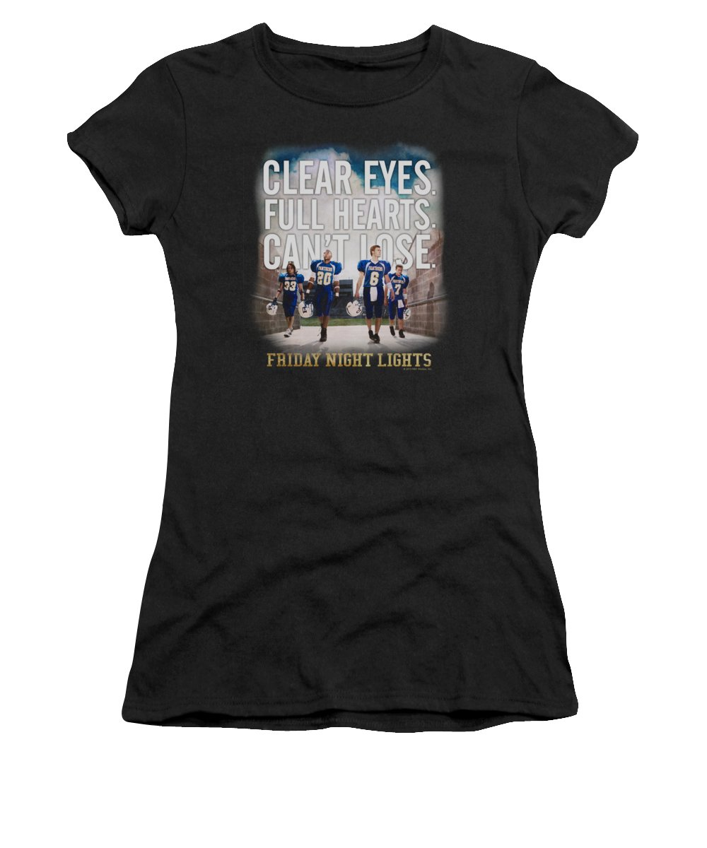 Friday Night Lights Women's T-Shirt featuring the digital art Friday Night Lights - Motivated by Brand A
