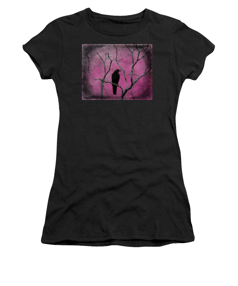 Bird Women's T-Shirt (Athletic Fit) featuring the digital art Fuchsia by Gothicrow Images