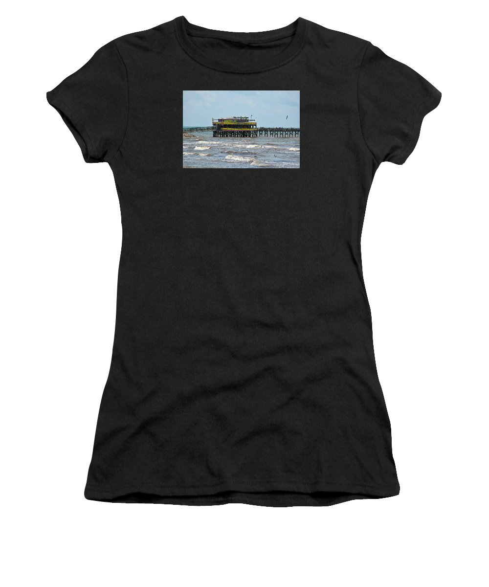 Landscape Women's T-Shirt featuring the photograph Galveston The Sv by Diana Mary Sharpton