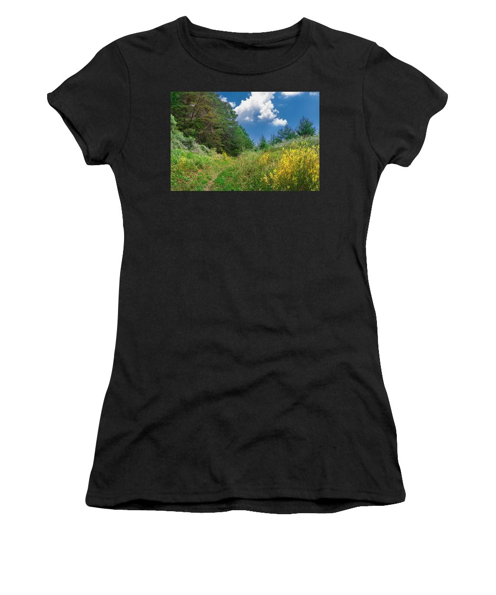 Cumberland Gap National Historical Park Women's T-Shirt (Athletic Fit) featuring the photograph Gap Trail by Mary Almond
