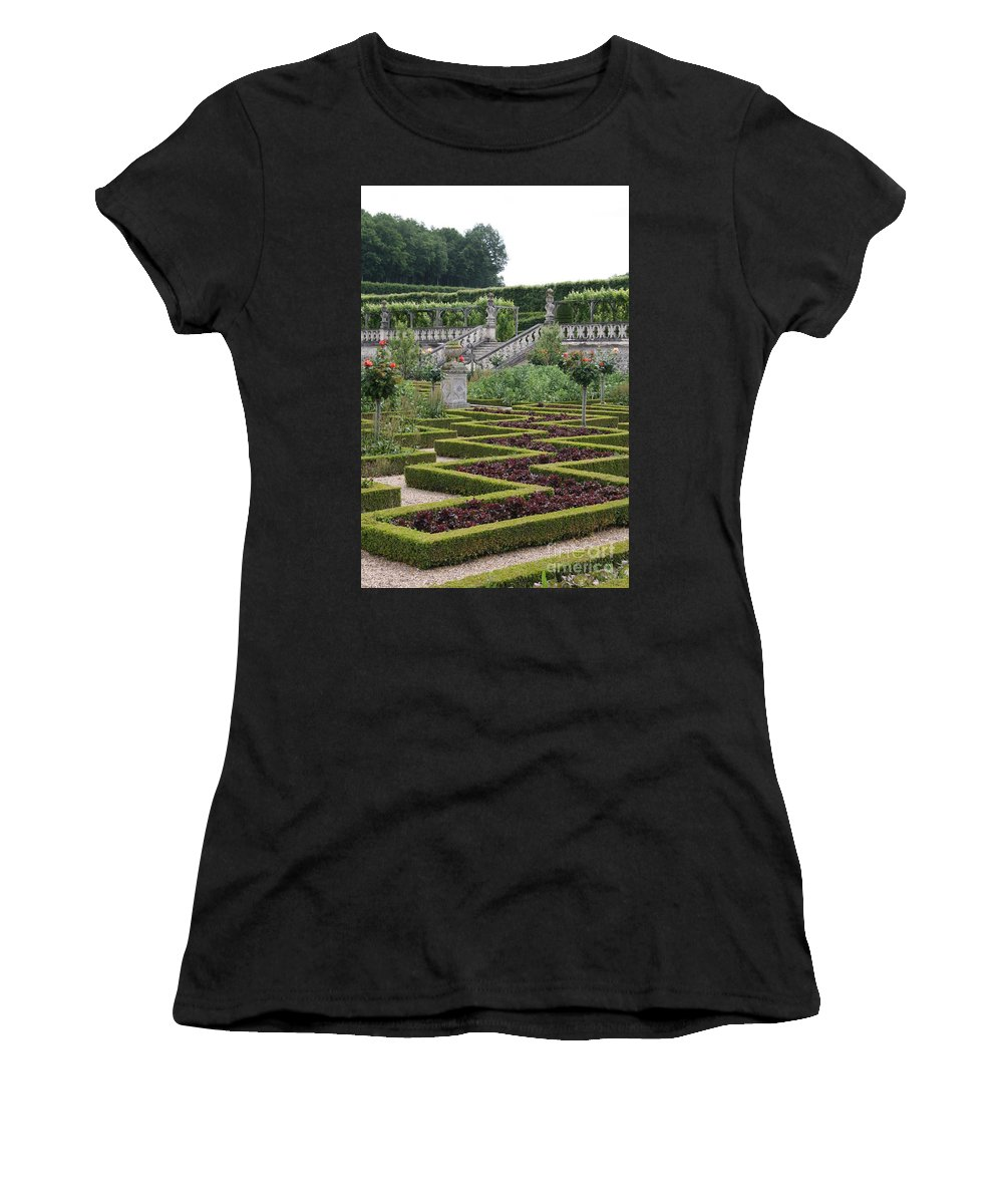 Cabbage Women's T-Shirt (Athletic Fit) featuring the photograph Garden Symmetry Chateau Villandry by Christiane Schulze Art And Photography