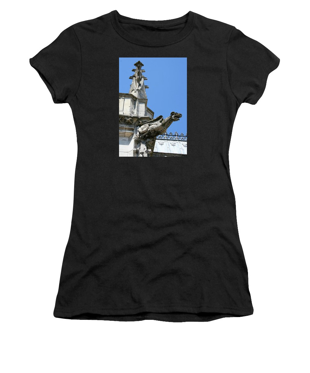 Gargoyle Women's T-Shirt (Athletic Fit) featuring the photograph Gargoyle by Christiane Schulze Art And Photography