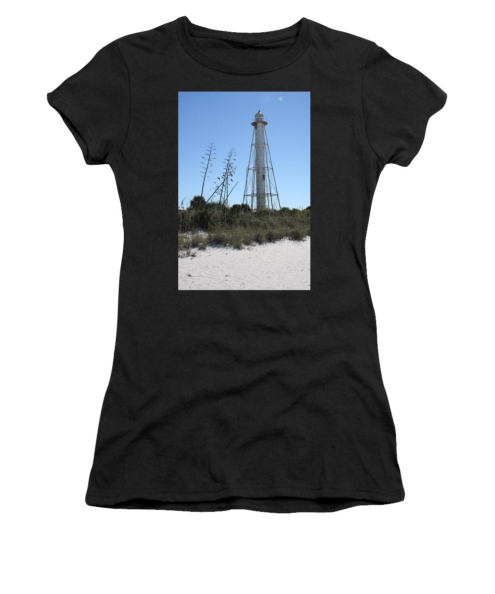 Steel Lighthouse Women's T-Shirt featuring the photograph Gasparilla Island Light II by Christiane Schulze Art And Photography