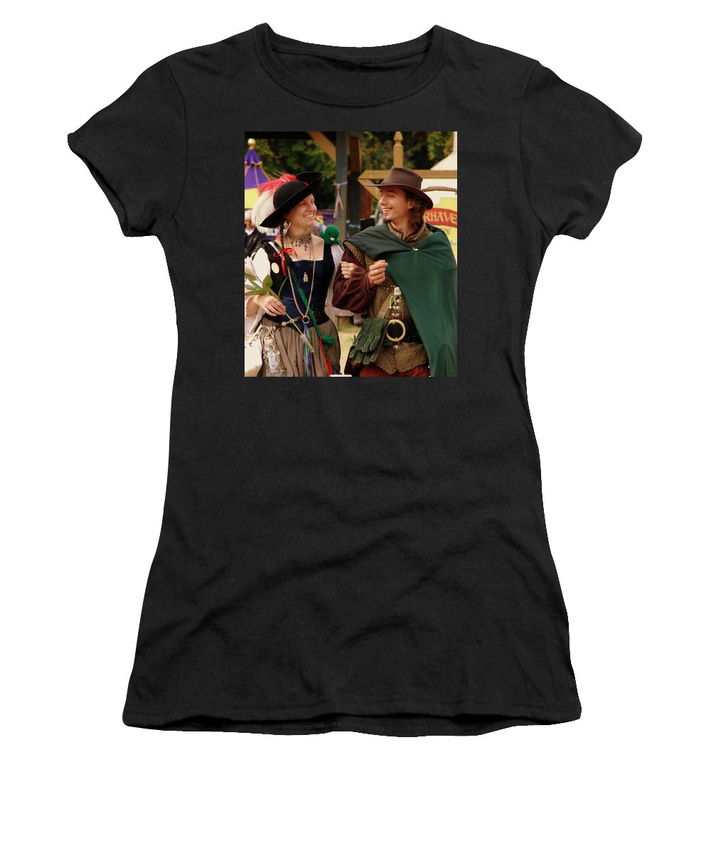 Costume Women's T-Shirt (Athletic Fit) featuring the photograph Gentleman And His Lady by Rodney Lee Williams