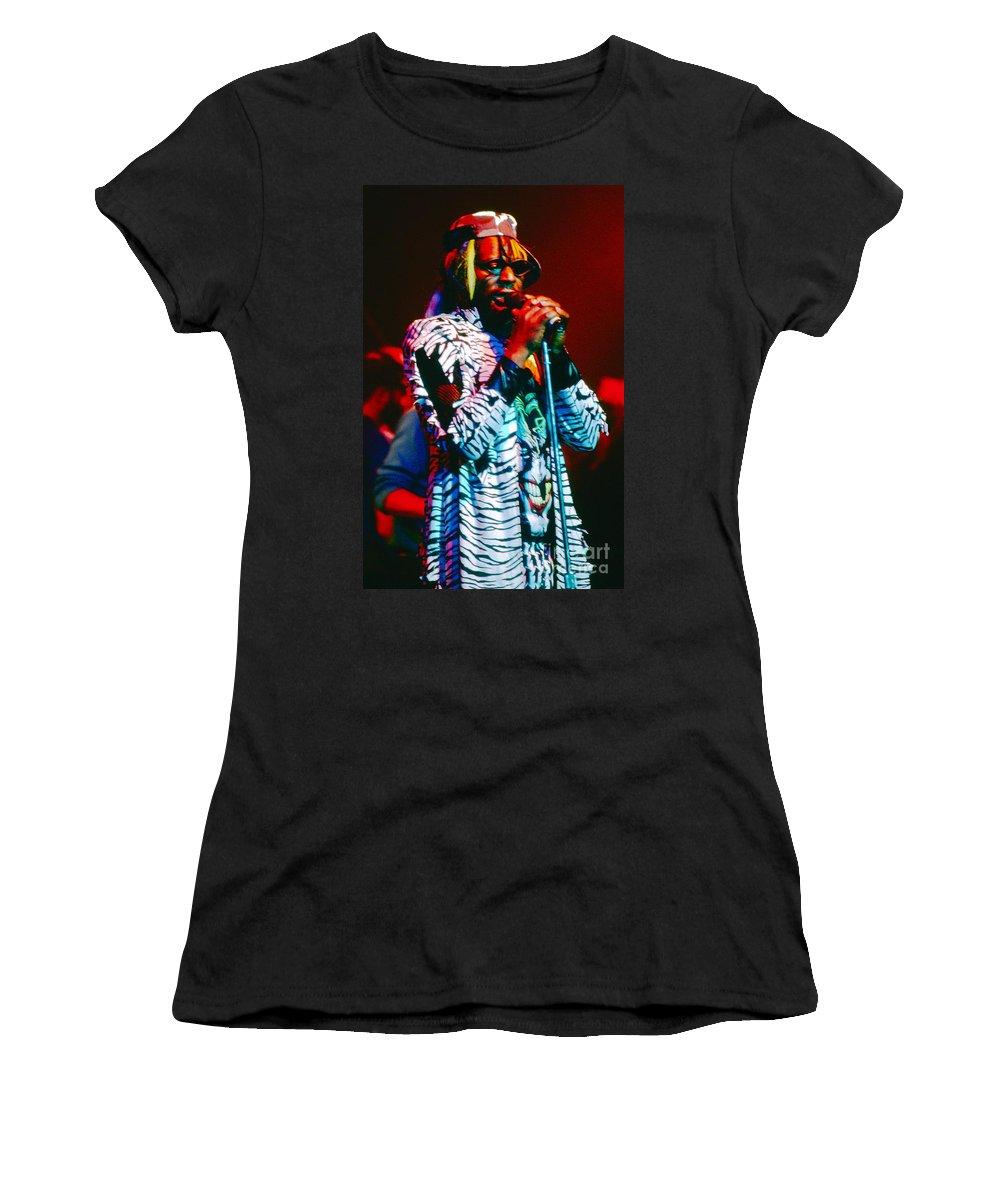 George Clinton Women's T-Shirt featuring the photograph George Clinton by David Plastik