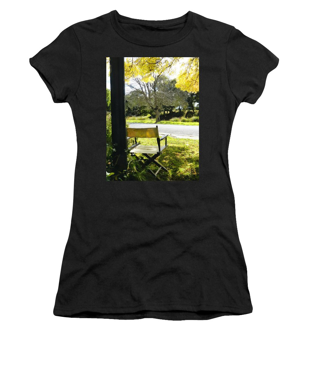Director Women's T-Shirt featuring the photograph Giving Nature Direction by Steve Taylor