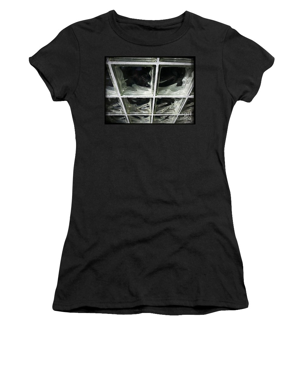 Street Snapshot Women's T-Shirt featuring the photograph Glass Wall by Fei A