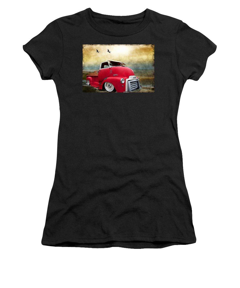 Ol Marais River Run Women's T-Shirt featuring the photograph Gmc 350 by Liane Wright