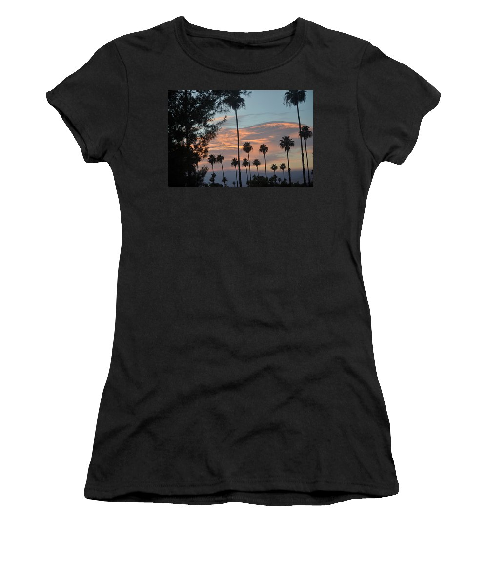Palm Trees Women's T-Shirt featuring the photograph God's Palette by Jay Milo