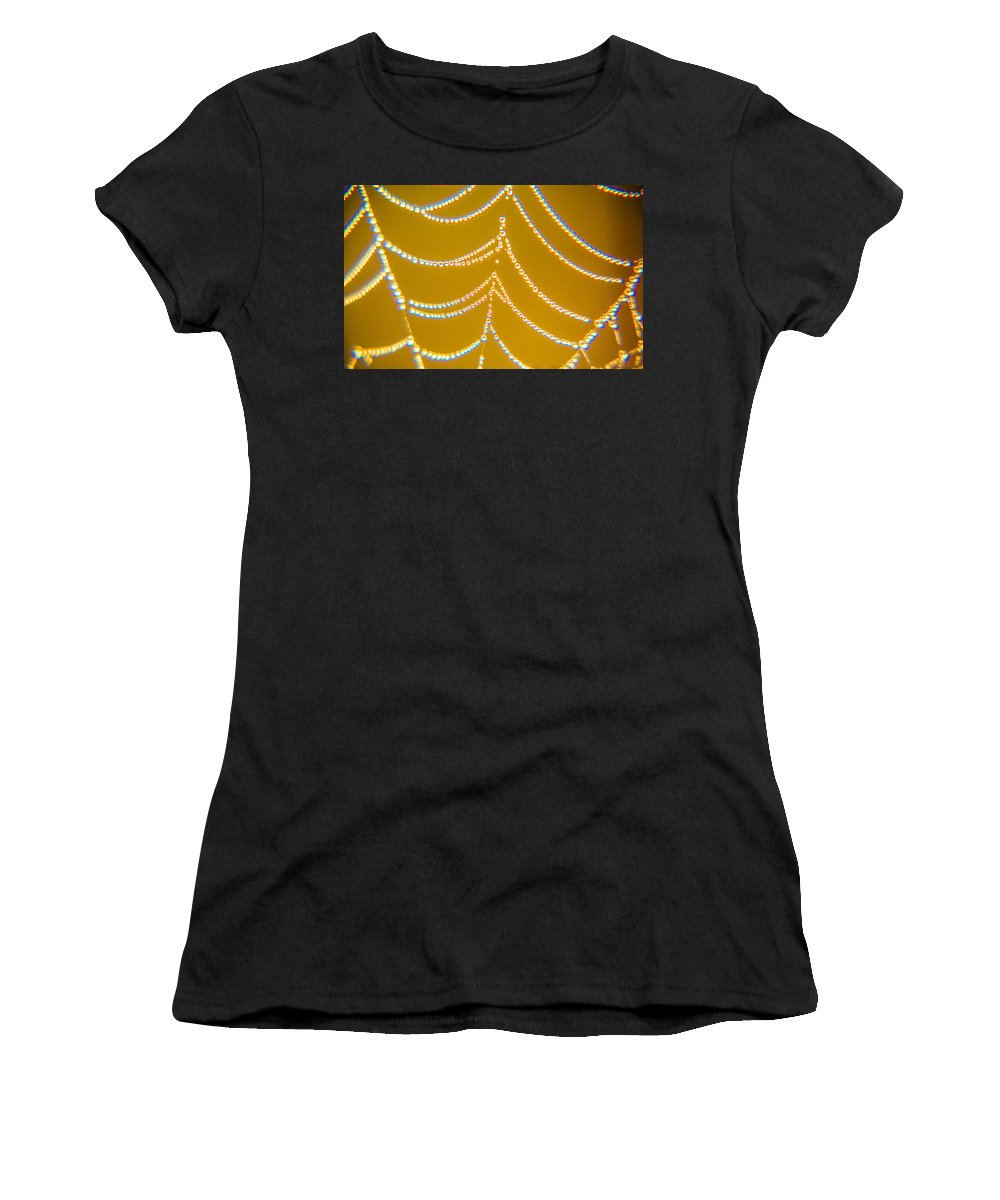 Gold Women's T-Shirt (Athletic Fit) featuring the photograph Gold And Diamonds by Paula OMalley