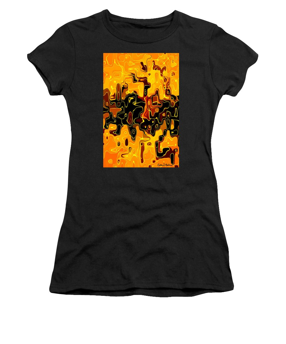 Gold Women's T-Shirt featuring the digital art Golden Reflections by Gary D Baker